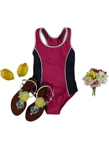 Dagi Kız Çocuk Yüzücü Mayo Fuşya